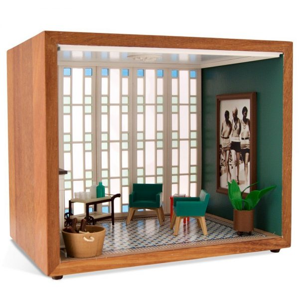 The Green Living Room Miniatura Roombox